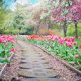 Piękna i klasyczna w kształcie ścieżka , która idealnie wkomponuje się w ogród pełen kwiatów